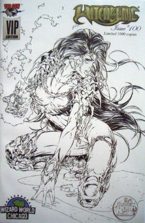Witchblade #100 Wizard World VIP Michael Turner Sketch Variant Top Cow comic book
